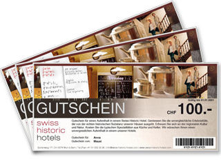 Swiss Historic Hotels vouchers