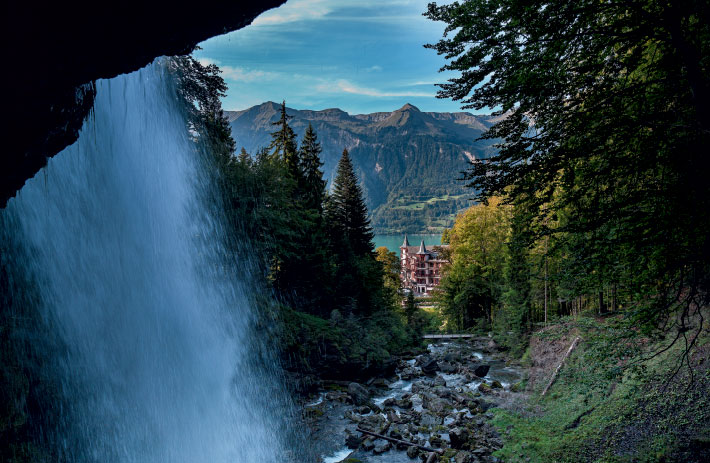 Giessbach Falls above the Grandhotel