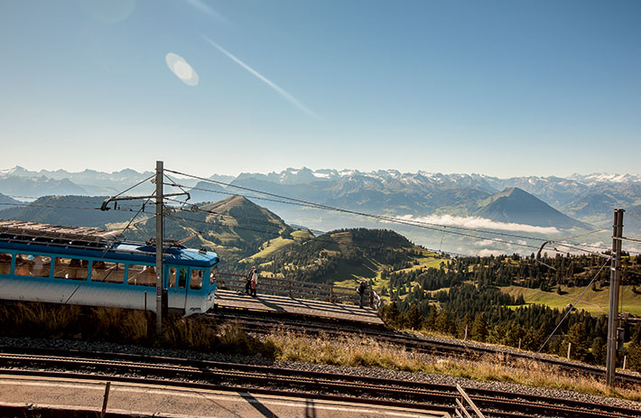 Panorama view from the Rigi